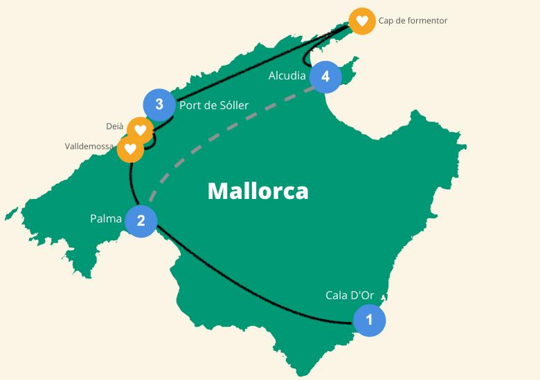Mallorca roadtrip eiland