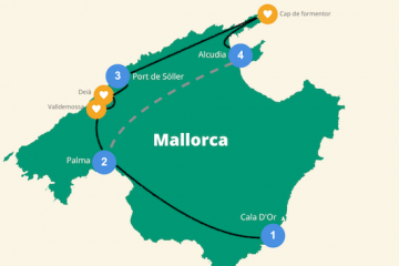 Reisroute Mallorca 1 week