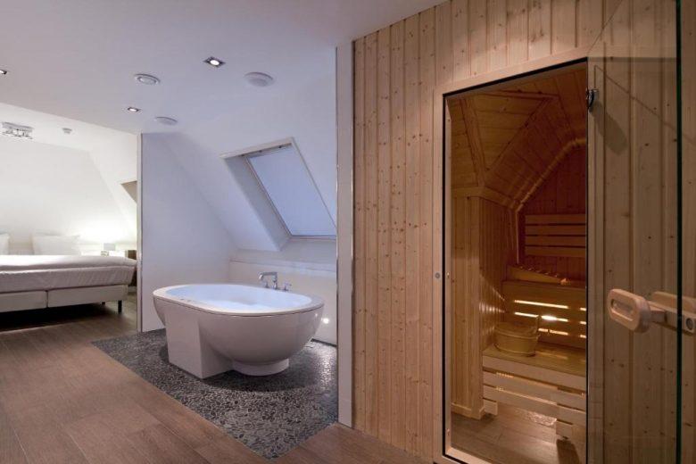 hotel suite met eigen sauna