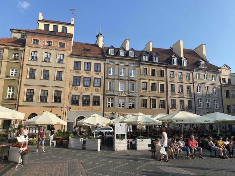 Old city Warschau visit