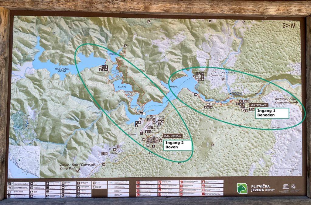 Plitvice meren kaart
